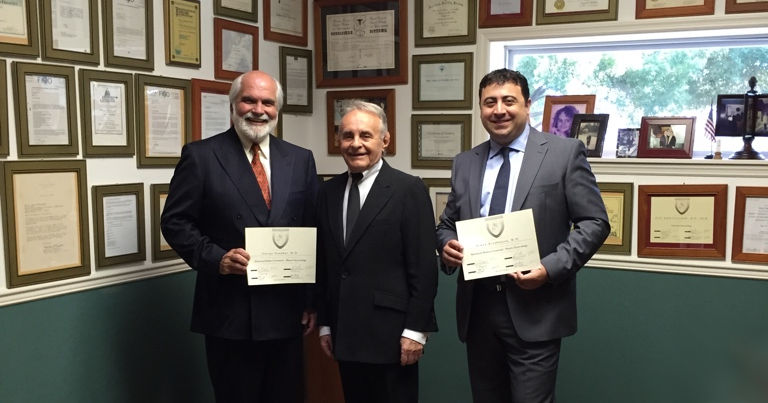 Dr. Danakas and Dr. Kirakosyan with Dr. Adam Ostrzenski